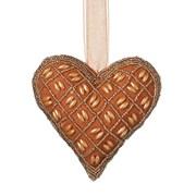 Beaded Hanging Heart Russet D140mm (810595)