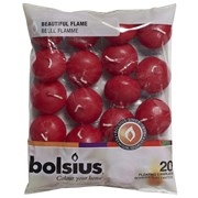 Bolsius Floating Candles Wine Red 20s (CN5207/103632053744)