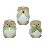 Terracotta Owl Asstd (820499)