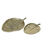 Gold Aluminium Leaf Plate 2 Set (826525)
