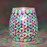 Xystos Geometric Mosaic Glass Burner (8601)