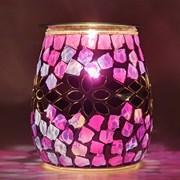 Xystos Purple Stepping Stones Mosaic Glass Burner (8602)