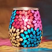 Xystos Fab Flower Mosaic Glass Burner (8603)