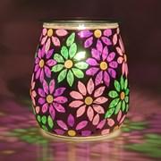 Xystos Pretty Petals Mosaic Glass Burner (8604)