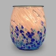Xystos Chrashing Waves Art Glass Burner (8606)