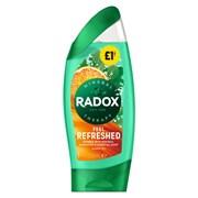 Radox Shower Feel Refreshed Pmp £1.00 250ml (72934)