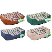 Cat Bed-assorted Colours 47x37x (18007)