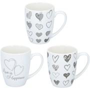 Ceramic Mug With Printed Hearts Asstd (19093)