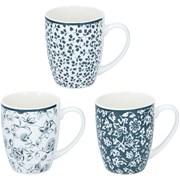 Ceramic Mug With Embossed Floral Print Asstd (19220)
