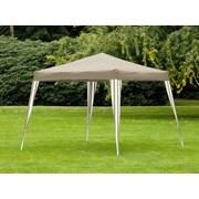 Folding 3m Gazebo Taupe & White 3m