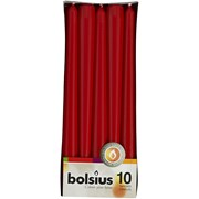 """Bolsius 10"""" Red Tapered Candles 10s (CN5213/103600352241)"""