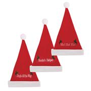 Plush Felt Merry Christmas Hat (8917)