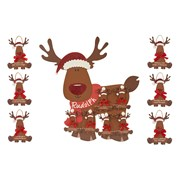 Reindeer Plaque 6 Asst (8XS456)