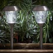 Stainless Steel Lantern Border Light X 2 30cm (9018081)