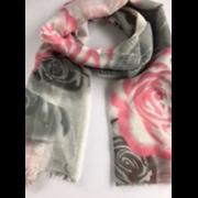 Scarves Large Flower Print Asstd (LP3084/90194)