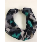 Magnetic Scarf Spot Green/pink/navy (90310)