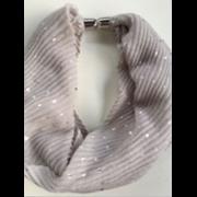 Magnetic Scarf Pink/navy/grey/black (90311)