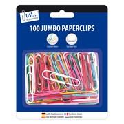 Js Jumbo Paper Clips Assorted (9195)