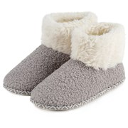 Totes Isotoner Ladies Bobble Boot Pale Grey Size 4 (95614PGR4)