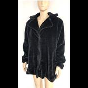3/4 Length Fur Coat Black (PON9562)