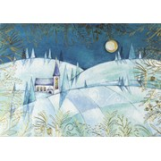 Deluxe Boxed Christmas Cards Moonlight Steeple 20s (3810)