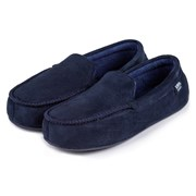 Totes Isotoner Totes Suedette Moccasin With Driving Sole Nvy/blue Small (99262NA
