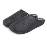 Totes Isotoner Mens Distressed Mule Black Size11 (99293BLK11)