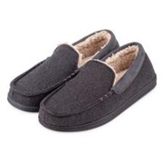 Totes Isotoner Felt Moccasin With Sherpa Grey Small (99328GRYS)