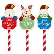 Premier Santa Please Stop Sign 76cm (AC04106)