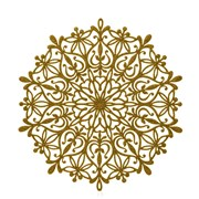 Snowflake Placemat Gold 39cm (AC176129G)
