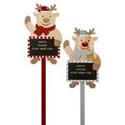 Premier Reindeer Santa Stop Stake 75cm (AC195936)