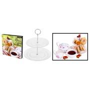 Rsw Glass 2 Tier Cake Stand 18/23cm (AM2648)