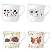 Rsw Bone China Mug Love Animals 4 Asstd (AM4184)