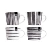 Rsw Small Blk Stripe Conical Mug 4 Asstd (AM4186)