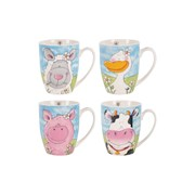 Rsw Coupe Mug Farm Animals (AM4199)