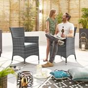 Amelia Dining Chairs - Pair - Grey