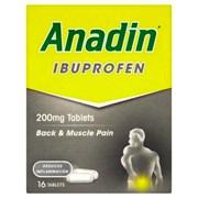 Anadin Ibuprofen Tabs 200mg 16s (023643)