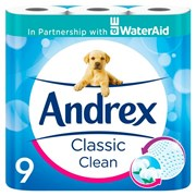 Andrex 9 Roll Classic Clean 4.75pmp*