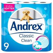 Andrex Classic Clean 9roll (6583)