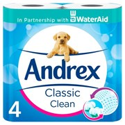 Andrex Toilet Roll Classic Clean White 4roll (10022)
