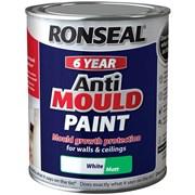 Ronseal Anti Mould Paint Matt White 750ml (36623)