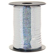 Holographic Curling Ribbon Silver (R15456)