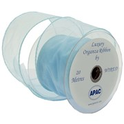 Apac Baby Blue Wired Chiffon Ribbon (R18134)
