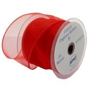 Apac Red Wired Chiffon Ribbon (R18136)