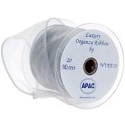 Apac Silver Wired Chiffon Ribbon (R18138)