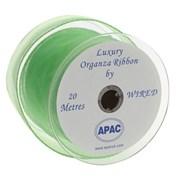 Apac Lime Wired Chiffon Ribbon (R18143)