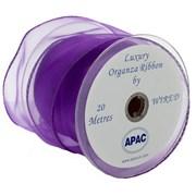 Apac Purple Wired Chiffon Ribbon (R18144)