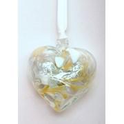 Birthstone Heart April 7cm (BH04A)
