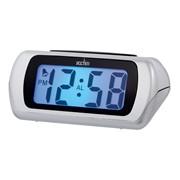 Auric Lcd Alarm Clock Silver (12340)