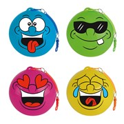 30cm Smiley Face Key Chain Ball 4 Assorted (B301)